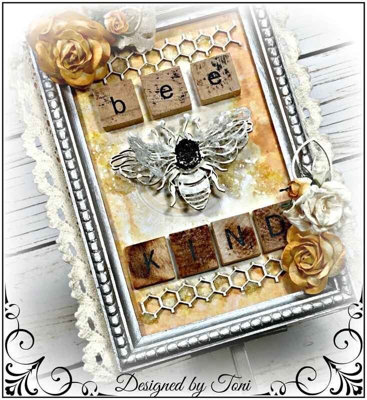 Mixed Media Canvas (Bee Kind) *Reneabouquets
