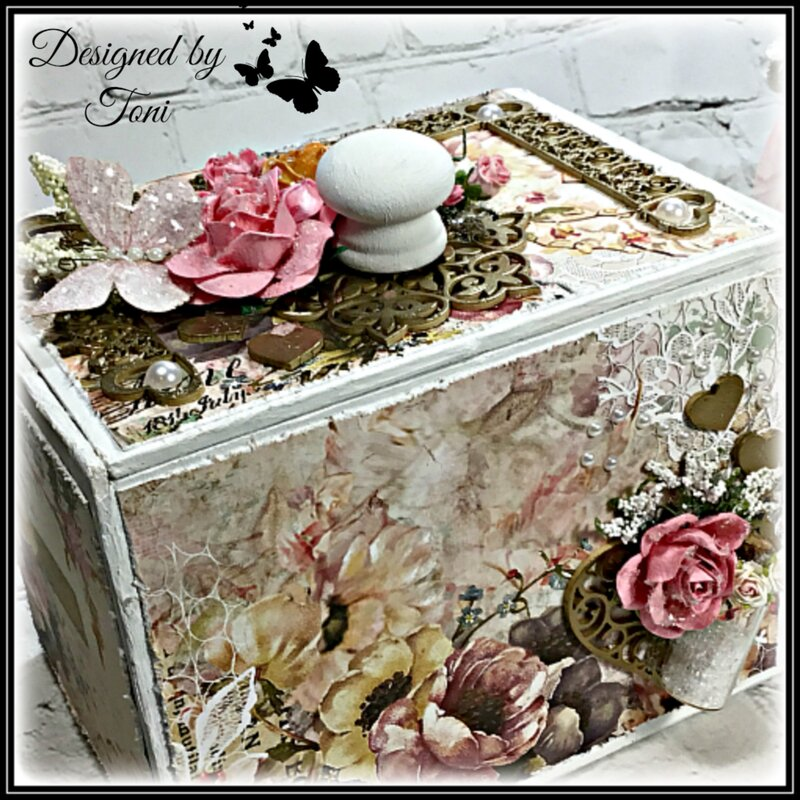 Shabby Chic Altered Cigar Box *Reneaboquets Design Team Project