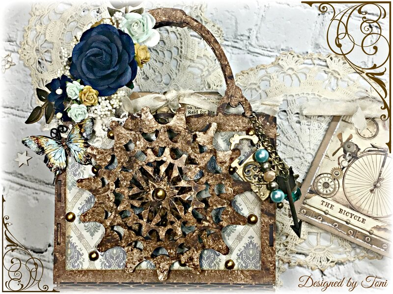 Steampunk 4D Purse With Rotating Gears *Reneabouquets