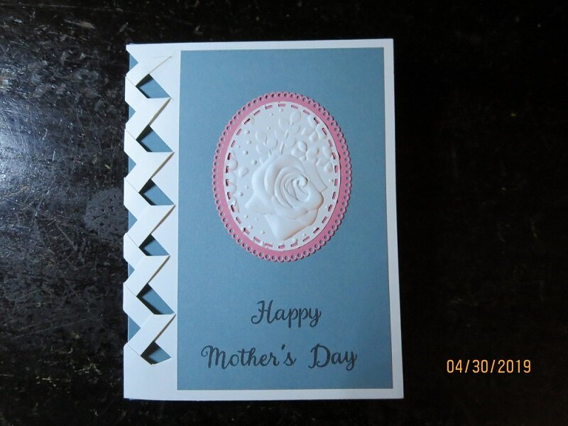 Simple Mother's Day Card with Lattice and Cameo