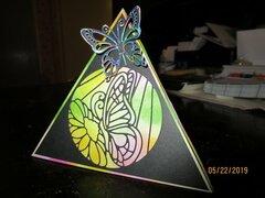 Pyramid Fold Birthday Card