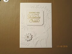 Last Minute White On White Christmas Cards