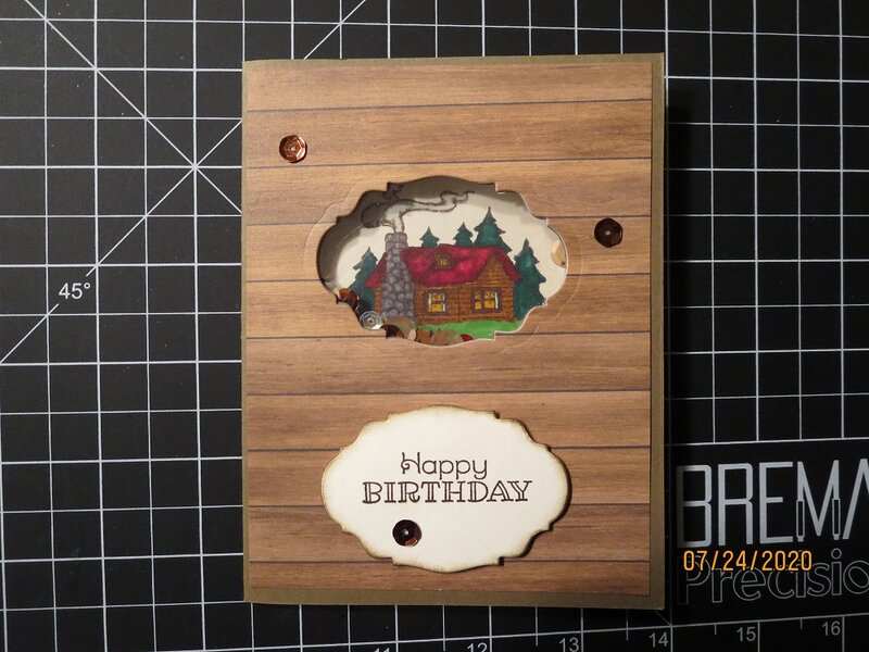 Masculine Shaker Birthday Card