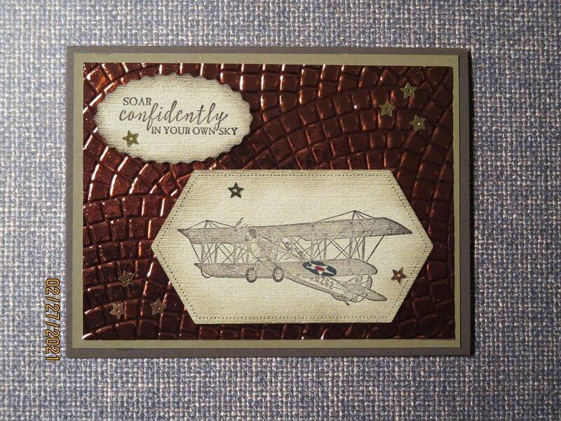 2021 Card #14 - Vintage Plane Graduation Card