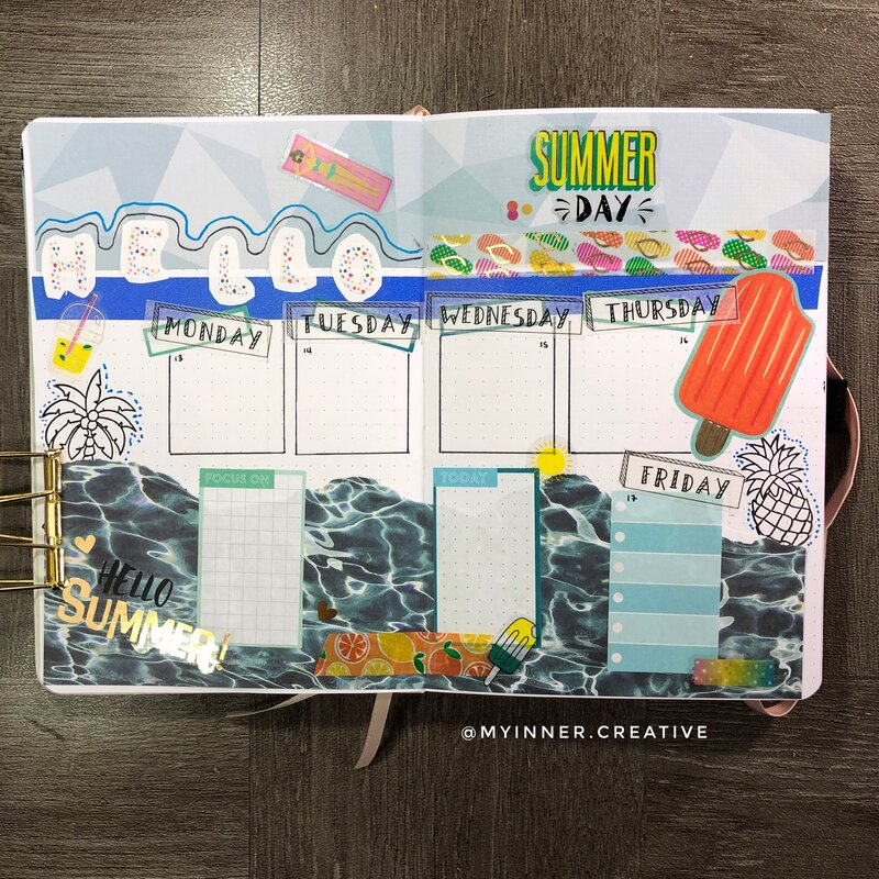 Summer Bullet Journal Spread