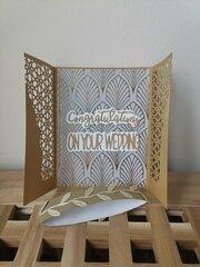 Golden gate card for wedding congratulations