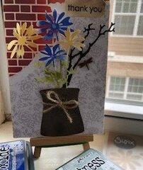 Rustic Flowers in Vase