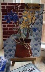Flowers in Rustic Vase