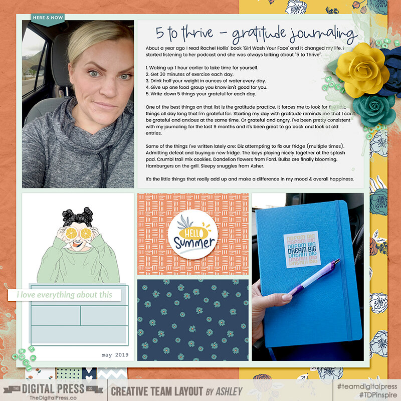 5 to Thrive - Gratitude Journaling