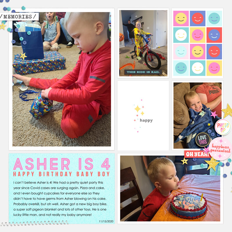Asher is 4