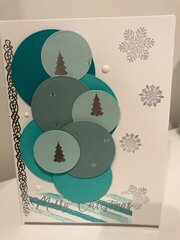 Silver and turquoise Christmas
