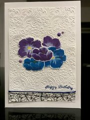 Blue and purple birthday card