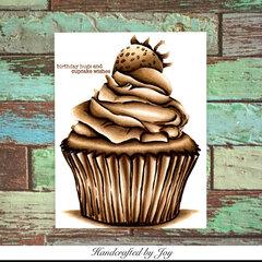 Birthday hugs and cupcake wishes