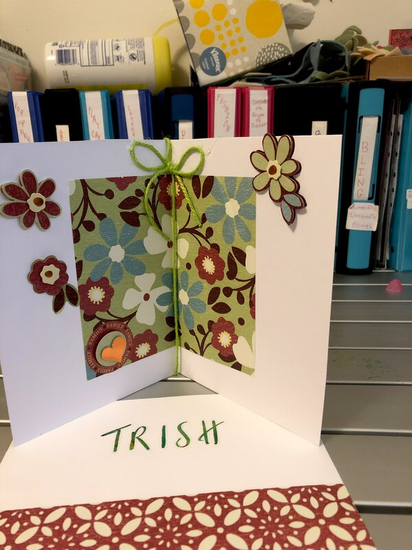 Inside of card and matching envelope