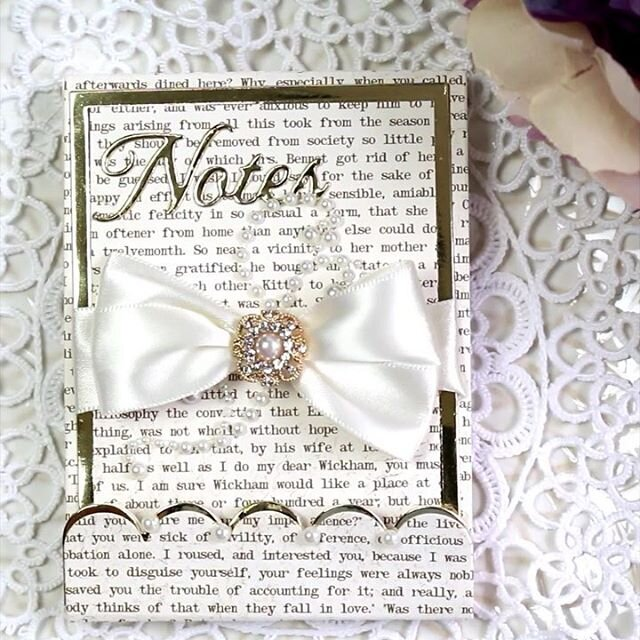 Gold Adorned Notepad - 2