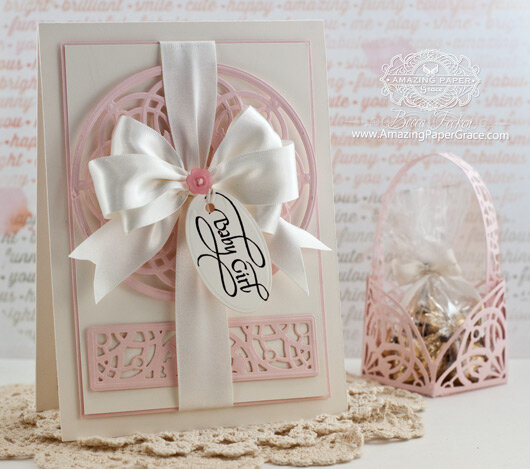 Baby Girl Card by Becca Feeken
