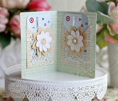 Filigree Booklet with Fold and Go Flower inspiration by Becca Feeken