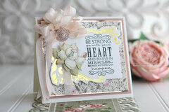 Be Strong and Go with your Heart card by Becca Feeken