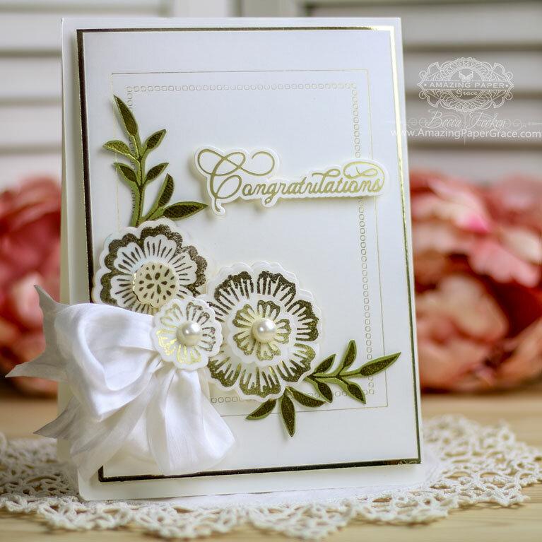 Glimmer Foil Flowers Inspiration by Becca Feeken