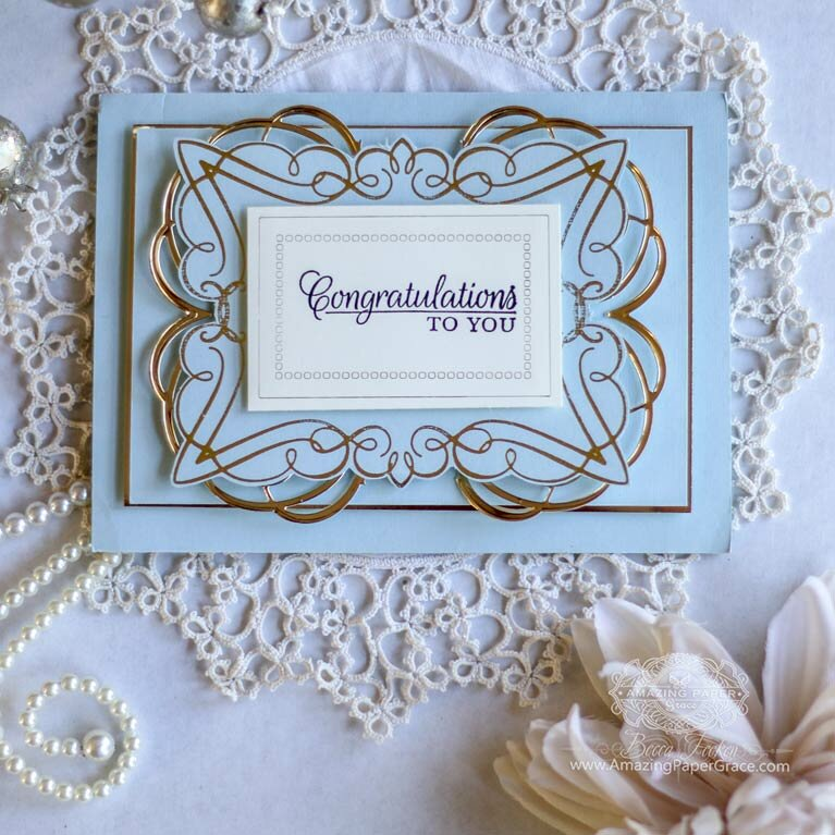 Glorious Glimmer Elegant Rectangle Card by Becca Feeken