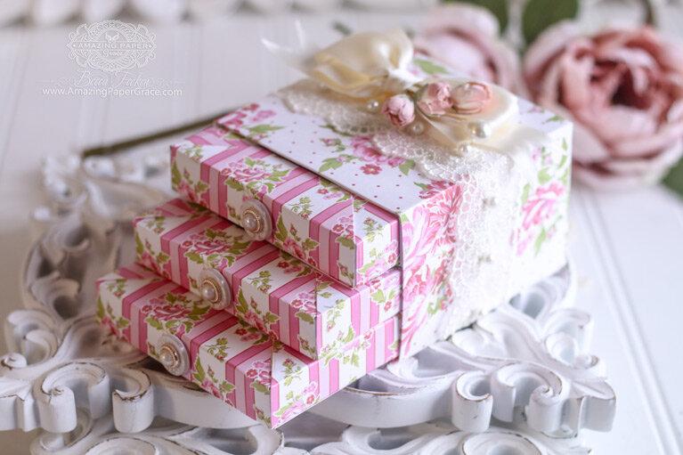 Shadowbox Vignettes Gift Box Inspiration by Becca Feeken