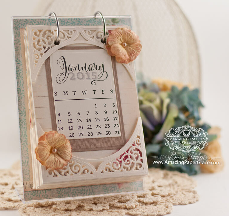 Swirl Bliss Calendar Inspiration by Becca Feeken