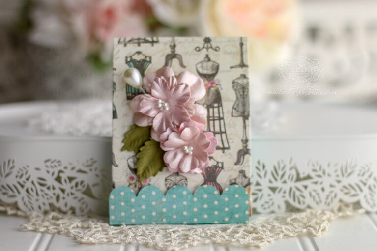 Vintage Treasures Adorned Notepad