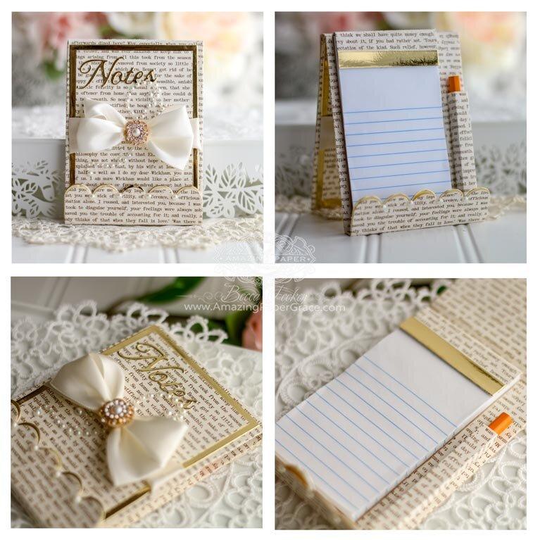 Gold Adorned Notepad