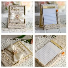 Gold Adorned Notepad