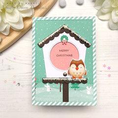 Birdhouse in Christmas Theme
