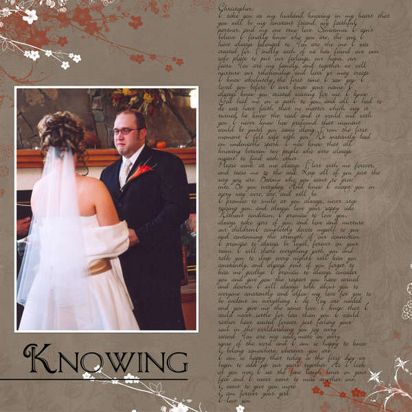 Knowing-My Vows page