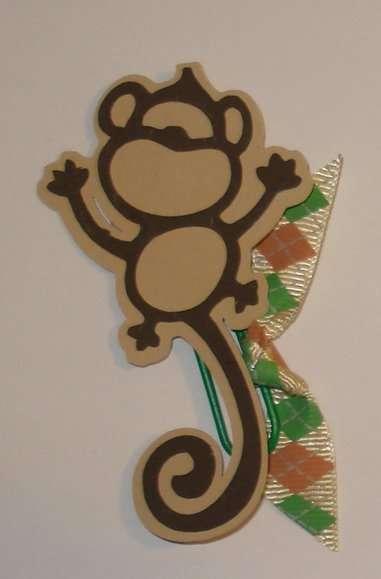 Monkey Embellished Paper Clip