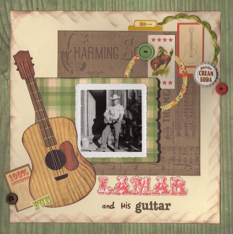 Lamar and his guitar