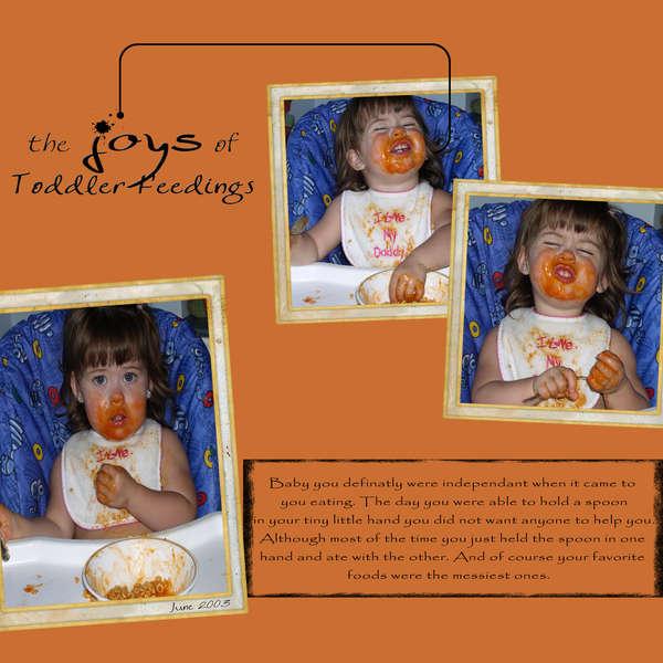 the Joys of Toddler Feedings
