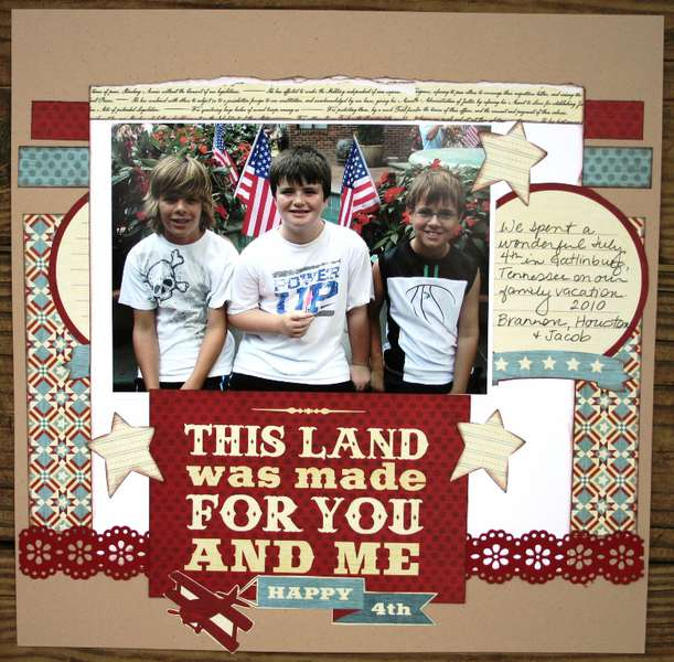 Happy 4th layout (We R Memory Keepers)