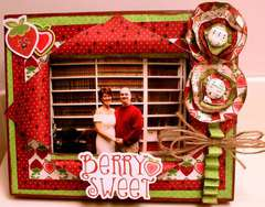 Berry Sweet Altered Picture Frame  *Imaginisce*