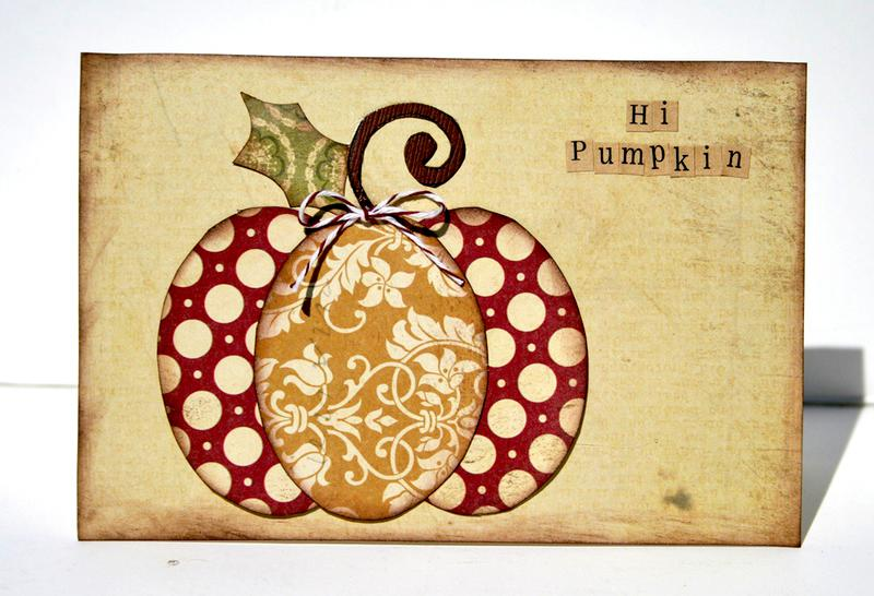 Hi Pumpkin card  **Ruby Rock-It