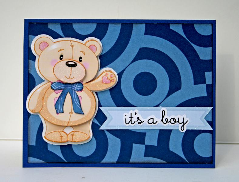 It's A Boy card **Ruby Rock-It