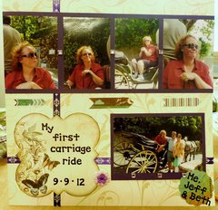 Bo Bunny contest 9-13 - My first carriage ride