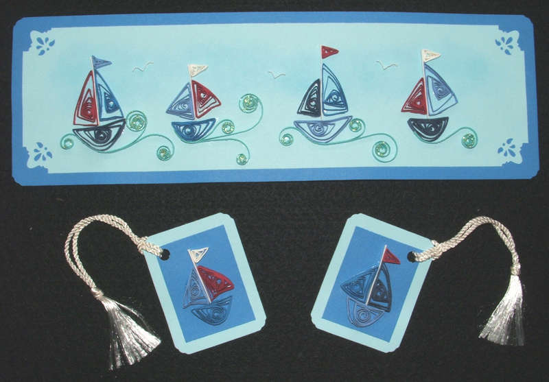 Quilled Sailboat Pieces