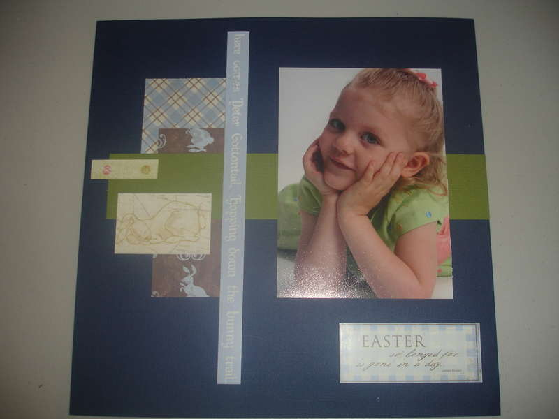 Easter Layout Left Side