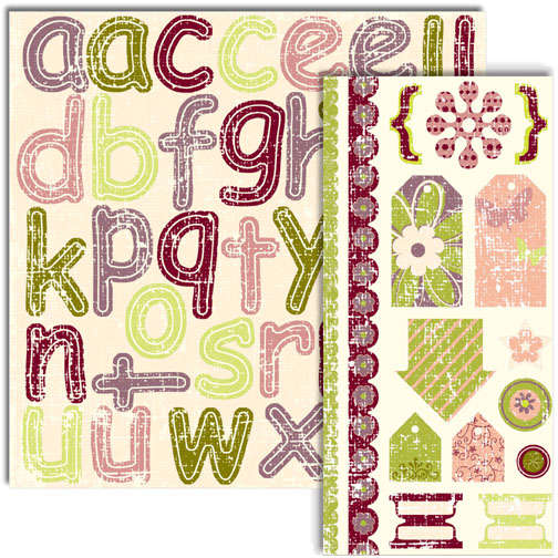 Georgia's Collection: Alphabet & Shapes Diecuts
