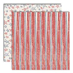 Yankeedoodle Stripes/Scribbled Stars