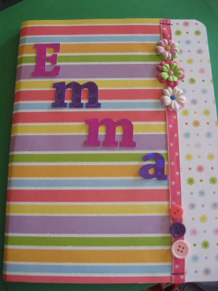 Altered composition book for my neice
