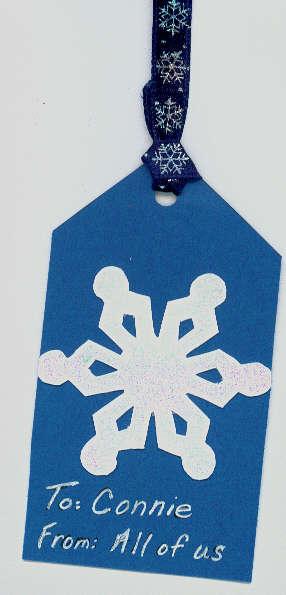 Tag - Embossed Snowflake