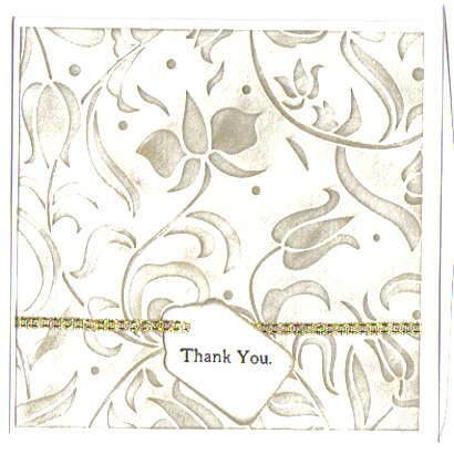 Thank You - gold Embossed