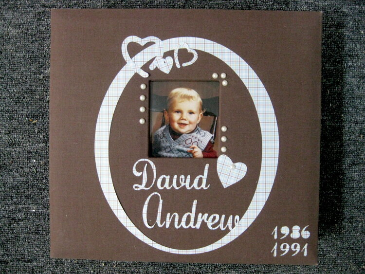 Dave's album after embellishments