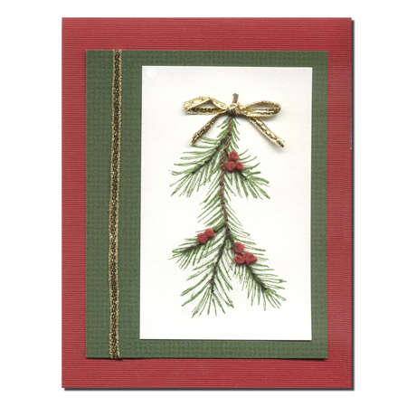 Pine Sprig holiday card