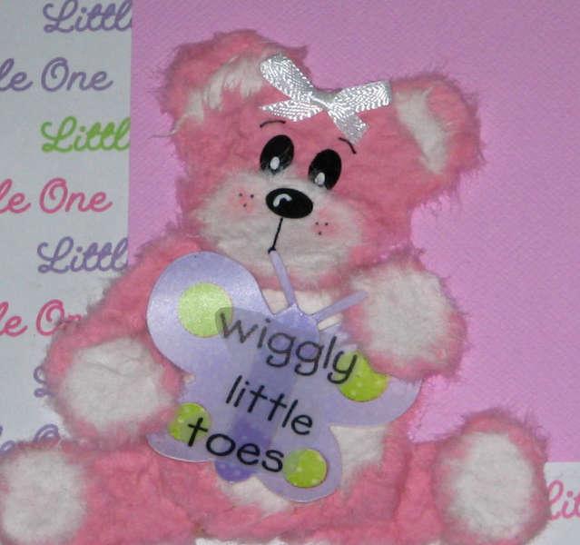 """Sweet Baby Girl"" Tear Bear Scrapbook Page Layout"