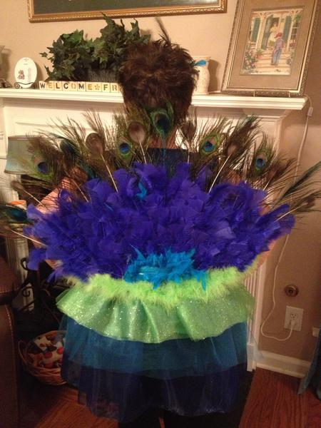 Peacock costume back side